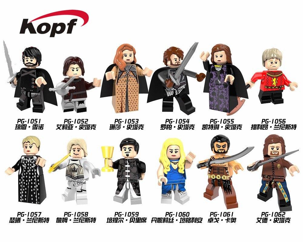 Ice And Fire Alicia Stark Petyr Baelish Jaime Lannister Cersei Game Of Thrones Legoinglys Building Blocks Children Toys PG8072