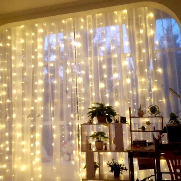 Image 5 - 960LEDS LED Curtain Lights Fairy Garland String Light Icicle Christmas Indoor Outdoor Wedding Lighting Home Party Gararden Decor-in LED String from Lights & Lighting on