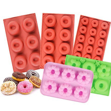 6/8/18 Cavity Silicone Donut Mold Cake Bagel Muffins Non-Stick Baking Tray Molds Food Grade Heat Resistant Dessert Making Tool