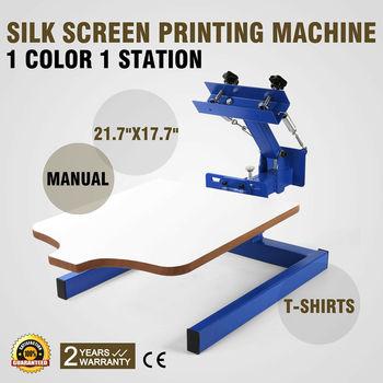 Silk Screen Printing Machine Printer 1 Color 1 Station S Manual Glass Printing DIY manual flatbed screen printer machine price flat screen print manual screen printer hand screen printing machine