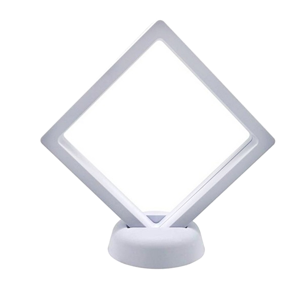 3D Floating Frame - Jewelry Display Stands - Challenge Coin Display Holder - Clear PET Membrane - 7x7cm