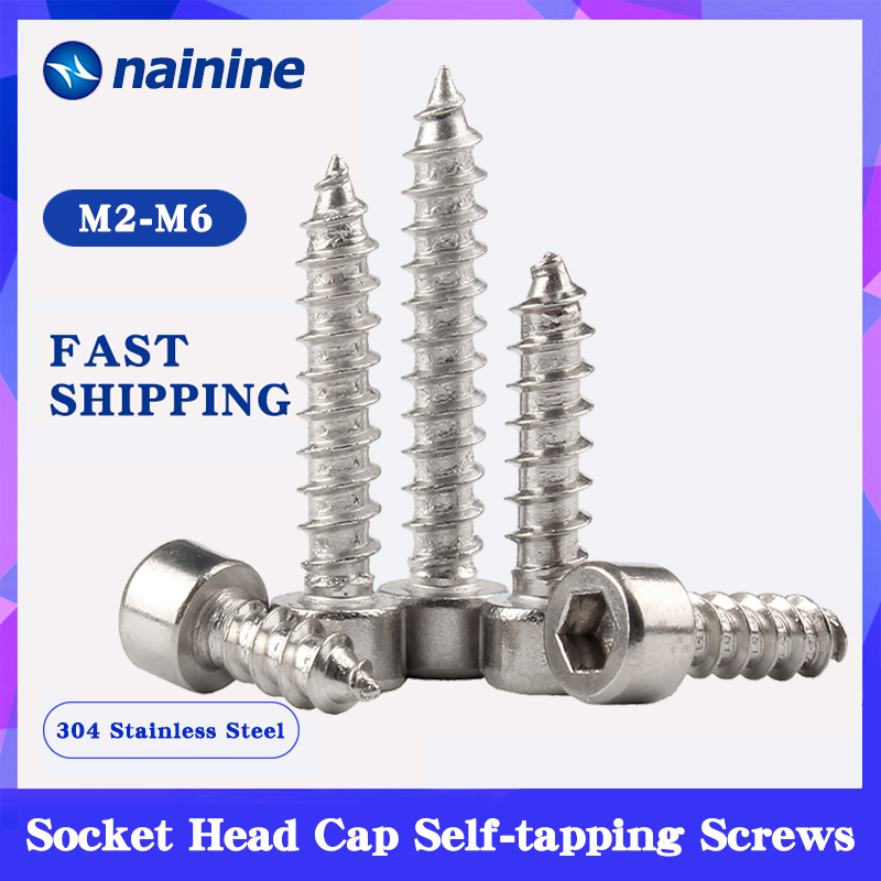 6pcs Metric M3x8mm Black 10.9 Alloy Steel Button Head Hex Socket Cap Screw Bolt