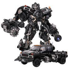 Transformacja czarna Mamba BMB LS 09 LS09 broń Ironhide KO figurka aluminiowy Film Film figurka zdeformowane zabawki