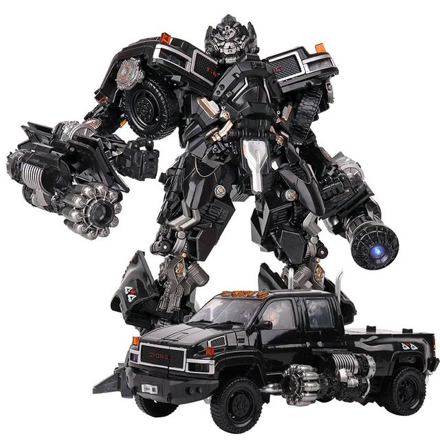 TransformationสีดำMamba BMB LS 09 LS09อาวุธIronhide KO Action Figureโลหะผสมโลหะภาพยนตร์Action Figureรูปของเล่น