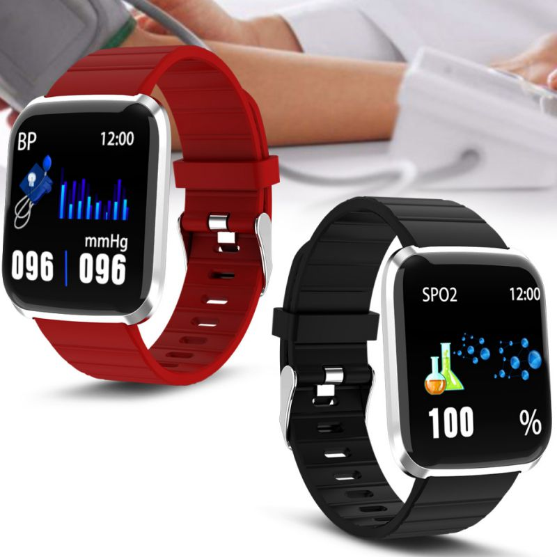Smart-Watch Fitness Bracelet Heart-Rate-Monitor Blood-Pressure Waterproof Android