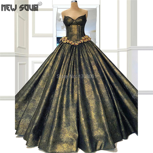 Image 1 - Ball Gown Shiny Turkish Evening Dresses Custom made Robe De Soiree Dubai Arabic Couture Party Gowns 2020 Kaftans Prom Dress New