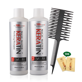 Keratin Straightening hair Repair and straighten damage hair 120ml Brazilian keratin treatment + purifying shampoo 11.11 недорого
