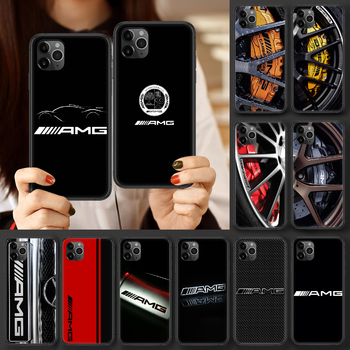 Luxury Mercedes Benz AMG Car Phone case For iphone 4 4s 5 5S SE 5C 6 6S 7 8 plus X XS XR 11 12 mini Pro Max 2020 black hoesjes image