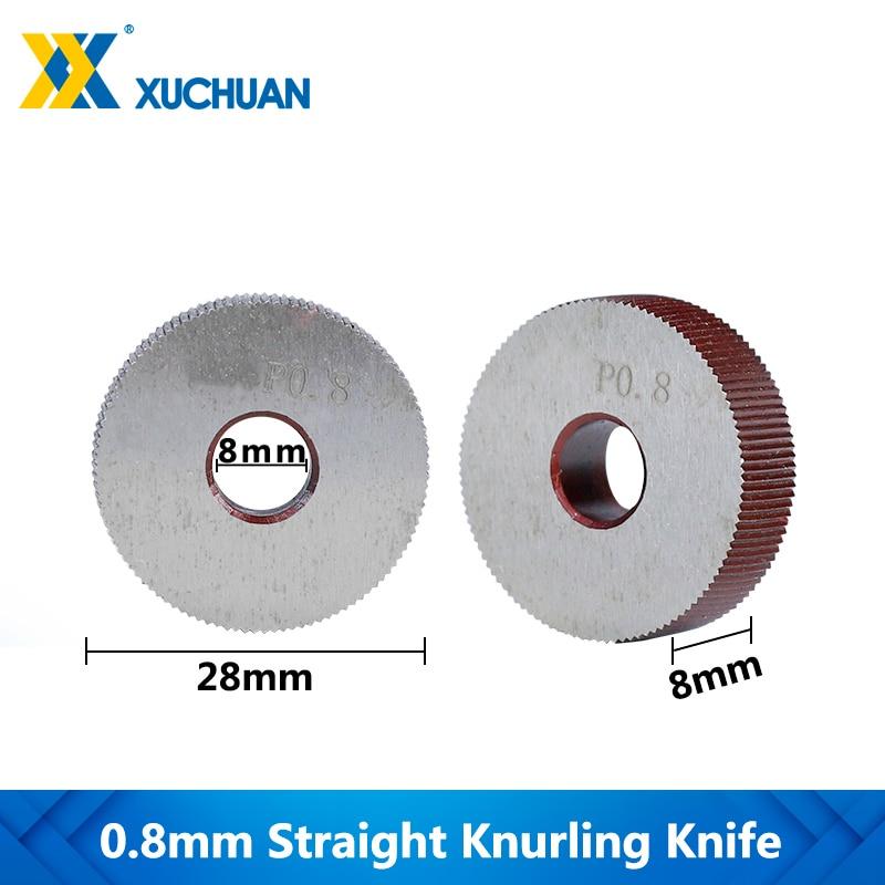 0.8mm Straight Knurling Knife Inner Hole Embossing Wheel Knurling Wheel Gear Shaper Cutter Lathe Straight Line Knurling Wheel