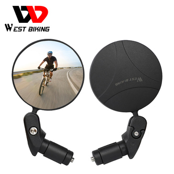 WEST BIKING Bike Rearview Mirror 360 Rotation Adjustable Wide Angle Cycling Rear View MTB Road Bike Bicycle Handlebar Mirrors west biking bicycle cycling rear view mirror mount riding sunglasses rearview mirror bike back mirrors rear view eyeglasses