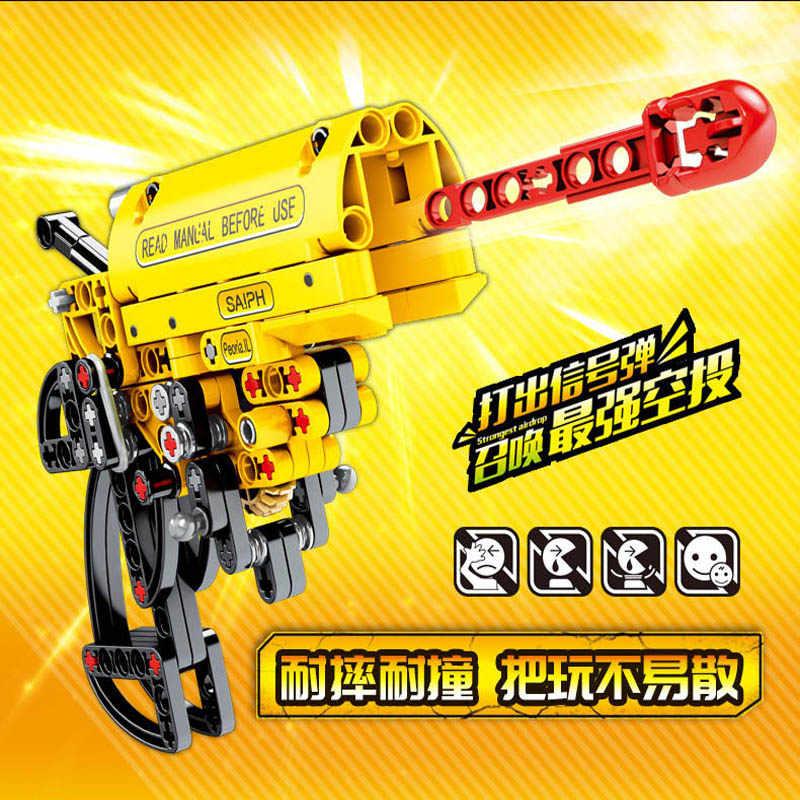 156 Pcs Anak-anak Pendidikan Blok Bangunan Mainan Kompatibel Legoings Anak Kota Jedi Kelangsungan Hidup Sinyal Bangunan Gun Hadiah Ulang Tahun