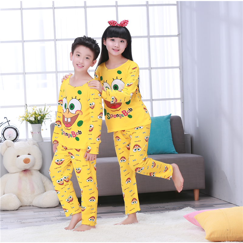 Children's   pajamas   for girls boys Autumn&Winter Sleepwears Suits Baby Lovely Pyjamas teen Cartoon Pijamas Kids home Clothing   set