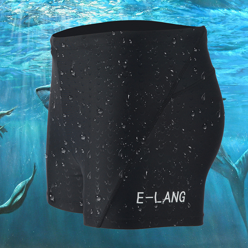 Swimming Trunks Waterproof Quick-Drying Men Swimwear Boxer BOY'S Bathing Suit Top Grade Black And White With Pattern Fish Skin B