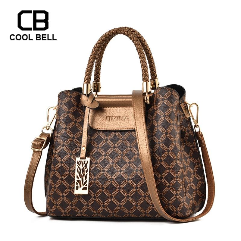 PU Leather Vintage Women Handbag Luxury Fashion Hand Bag For Women 2019 Printing  Crossbody Shoulder Ladies Bags Sac A Main