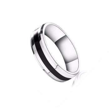 Women Jewelry Titanium steel Ring Black glaze personality Rings sd004 image