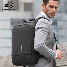 Kingsons masculino mochila moda multifunction usb carregamento masculino 13 15 polegada mochilas portáteis anti-roubo saco para homem