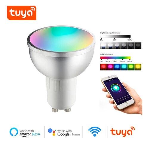 Купить gu10 smart wifi светильник с регулируемой яркостью таймер функция