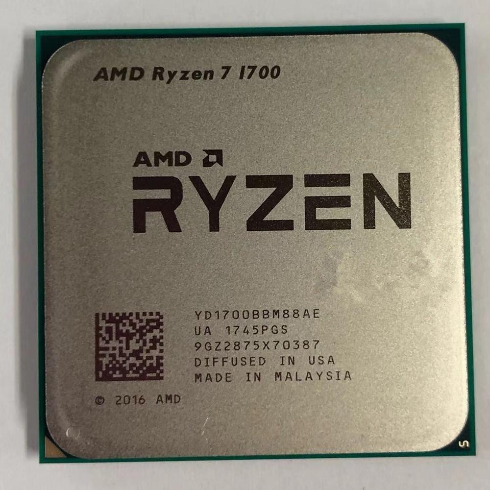 AMD Ryzen 7 1700 R7 1700 PU Processor 8Core 16 Threads AM4 3.0GHz 20MB TDP 65W Cache 14nm DDR4 Desktop YD1700BBM88AE