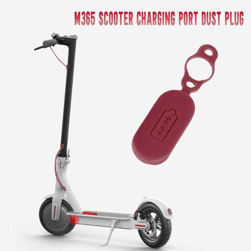 Para XIAOMI Mijia M365 Durável Substituição Do Skate Scooter Elétrico Carregador de Bateria de Alimentação Linha Buraco Cap Silicone