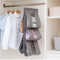 Taschen Hängen Tasche Kleidung taschen Organizer Schlafzimmer Garderobe Kleiderschrank Baumwolle Und Leinen Waschbar Staub Tasche-in Hängende Organizer aus Heim und Garten bei