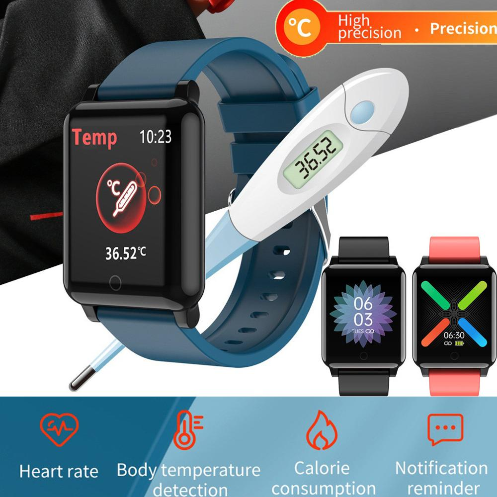 for Samsung Galaxy S20 Ultra Note10+ 5G s8 S9 S10e note9 Smart Wristband Fitness Tracker Body Temperature Heart Rate Smart Watch