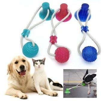 Multifunction Pet Molar Bite Dog Toys Rubber Chew Ball  1