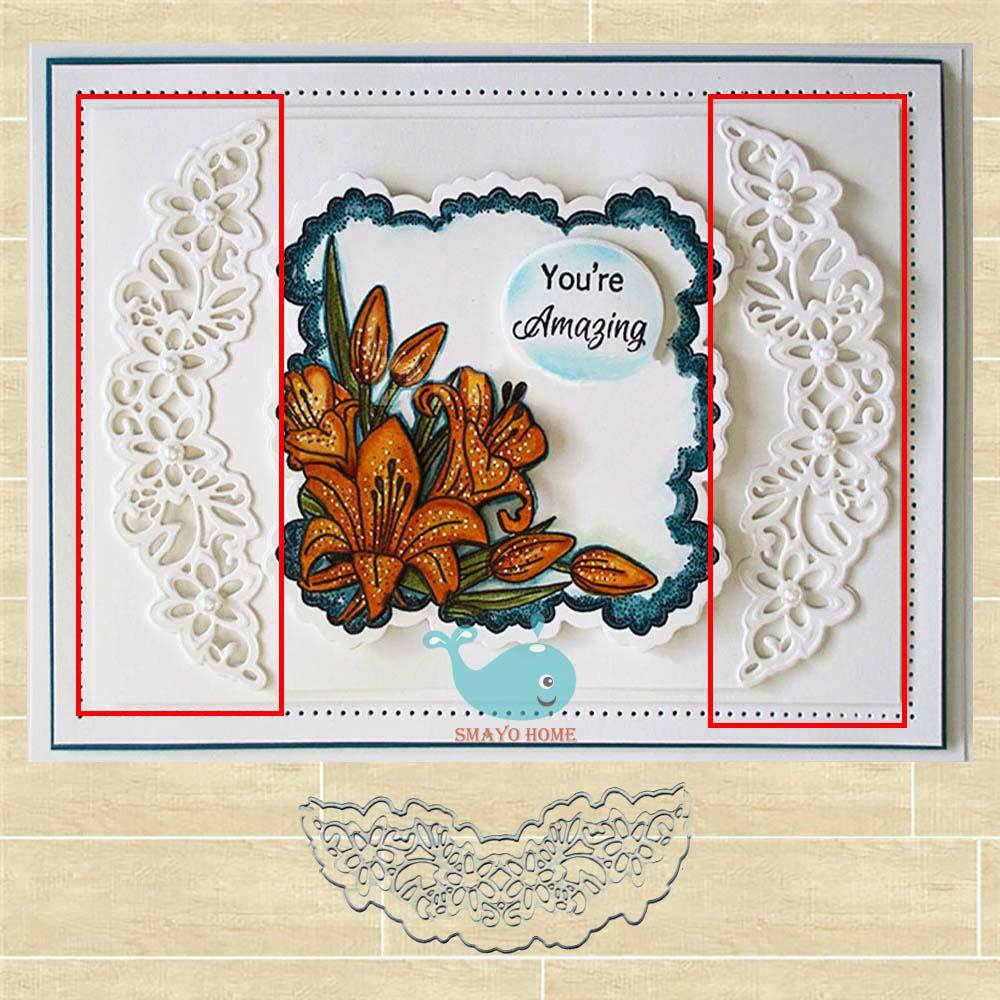 lace flower metal cutting dies stencil scrapbook album paper embossing craftJC