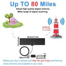 Antenne de télévision numérique haut de gamme HD prise en charge des canaux locaux 4K 1080P VHF UHF Freeview avec amplificateur détachable Signal Booster 12ft coaxial