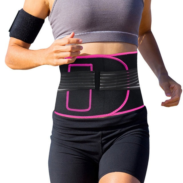 woman Adjustable Elastiac Waist Support Belt Lumbar Back Sweat Belt With Pocket Fitness Belt Waist Trainer Warmer Protection