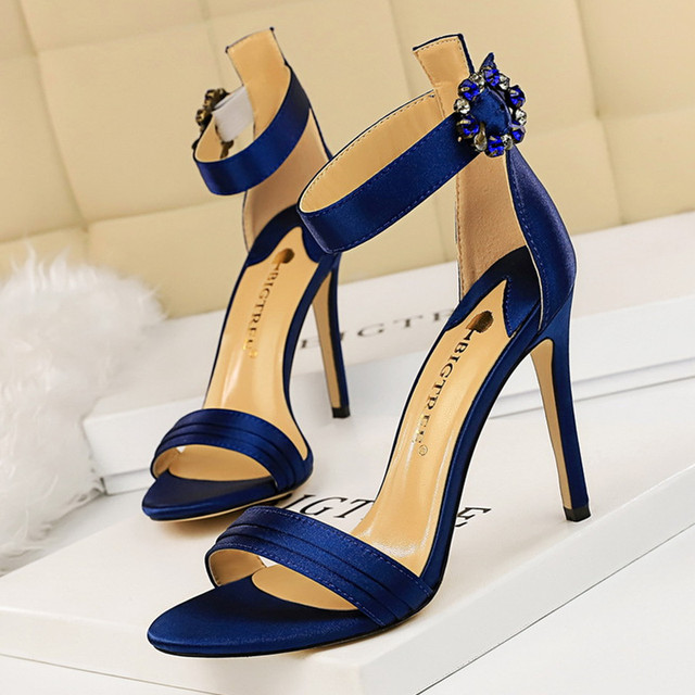 Womens Rhinestone Sandal High Heels  3