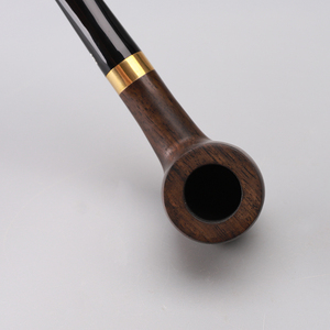 Image 5 - RU New Handmade Ebony Wood Black Smoking Pipes Tobacco Pipe 9mm Filter Wooden Pipe Gift for Grandfather Father ac0015