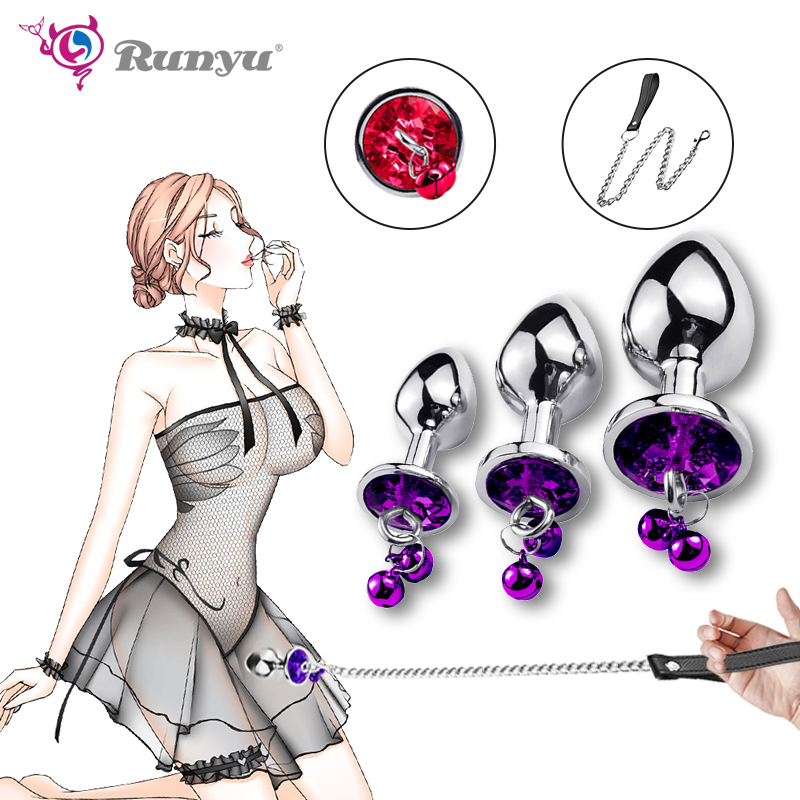 Runyu Intimate Metal Anal Plug With Small Bell Smooth Touch Butt Plug No Vibrator Anal Bead Anus Dilator Anal Toys For Men/Women