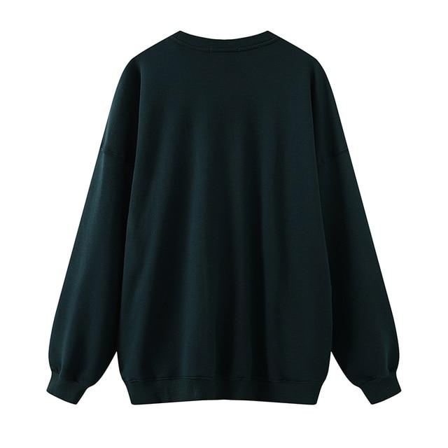 Oversize girls letter embroidery sweatshirts 2020 autumn fashion ladies soft cotton pullovers female casual sweatshirt women 2