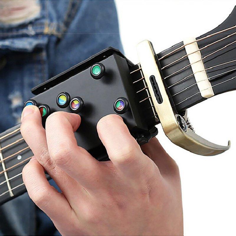 Sistema di apprendimento degli accordi per chitarra strumento per insegnare la chitarra con nove corde universali per principianti Oro