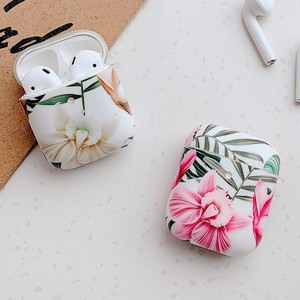 Marble Leaf Flower Case For Airpods 1 2 Bluetooth Earphone Charge Case Protective Cases Skin Accessories For Apple Air Pods(China)