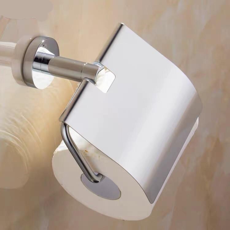 Хром нержавеющая сталь ванная рулон салфетка бумага держатель настенный навесной туалет органайзер полка
