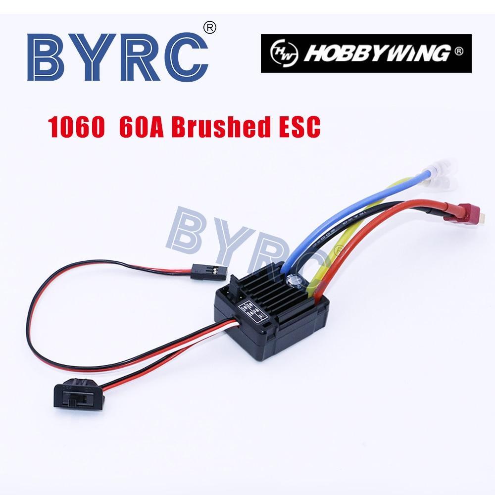 Щеточный электронный контроллер скорости HobbyWing quirun 1060 RTR 60A ESC для 1:10 RC машина HSP, водонепроницаемый Радиоуправляемый автомобиль Axial scx10