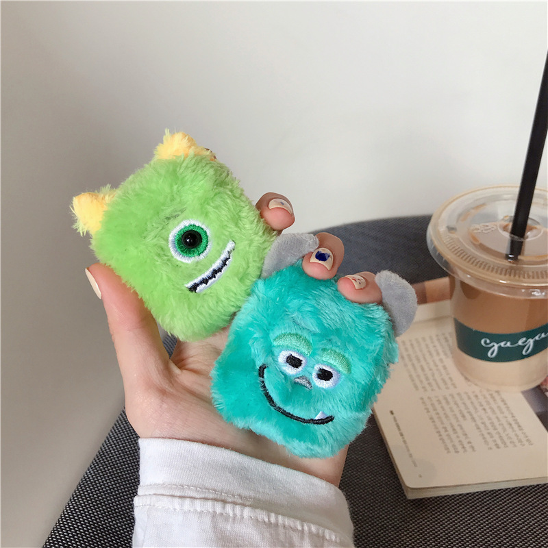 Cartoon Fluffy Warm Case For Airpods 3 2 1 Furry Cloth Wireless Earphones Knitted Plush Toys Covers For Airpod Pro Charging Box