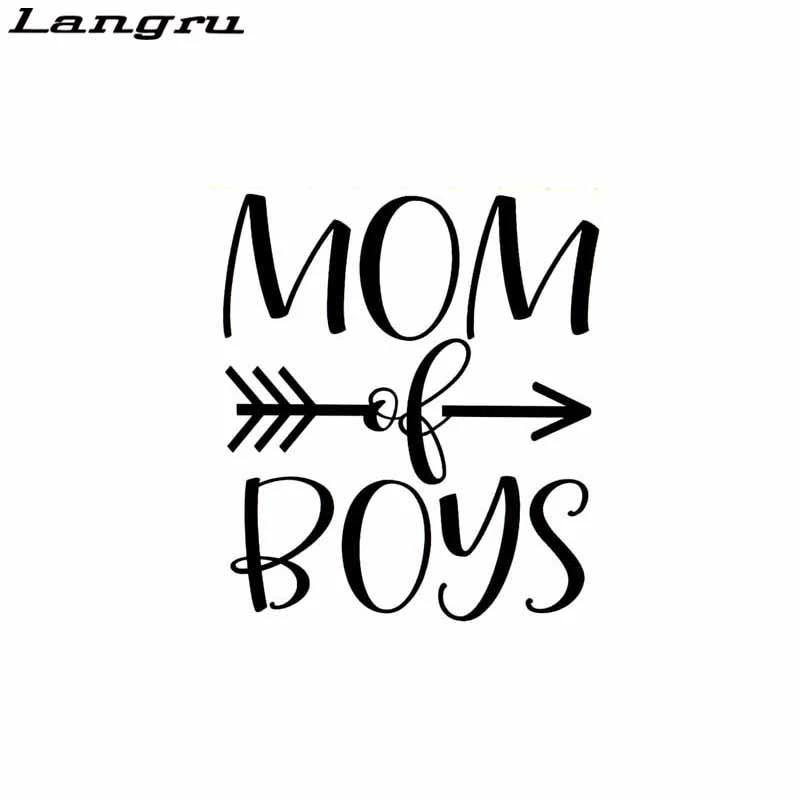 Mom Of Boys Arrow Vinyl Decal Sticker For Home Cup Mug Glass Wall Decor Choice