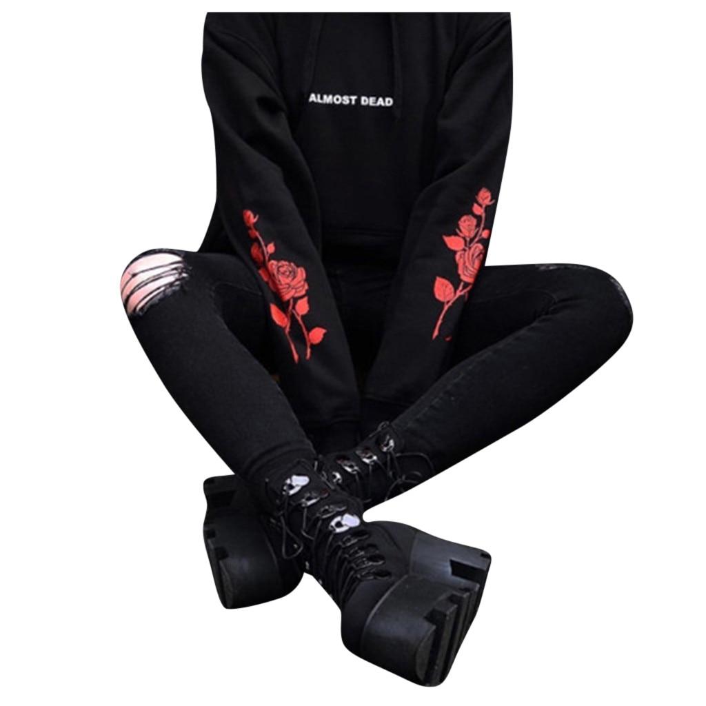 Autumn And Winter Women Fashion Hoodie Print Hooded Sweatshirt 2019 Autumn Winter Women Girls Oversize