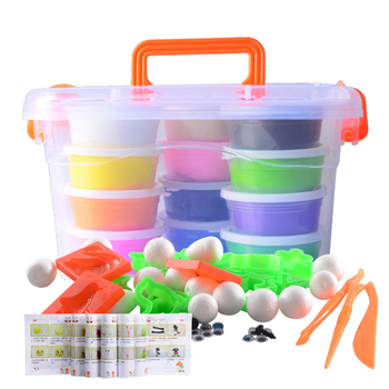 Kids Polymer Clay Super Light slime kit DIY Modelling Clay Slime Soft Intelligent Plasticine Learning Education Children For Toy new 24colors super light clay air drying soft polymer modelling clay with tool educational toy special diy plasticine slime toys