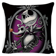 Pesadelo 3d antes do natal impresso capa de almofada fronha jack horror jogando travesseiro para o sofá decoração fronha capa