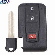 Toyota Prius 2004 2009 용 새로운 열쇠가없는 스마트 원격 키 쉘 케이스 Fob 2 + 1 버튼