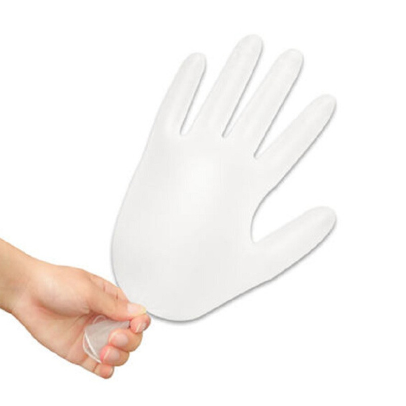 Protective Gloves Avoid Touching One-time PVC Check Gloves Housework Latex Gloves 100pcs/Box