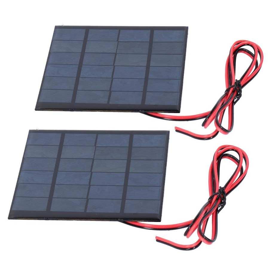 100cm acessórios eletrônicos dc 6v 2w carregador de painel solar