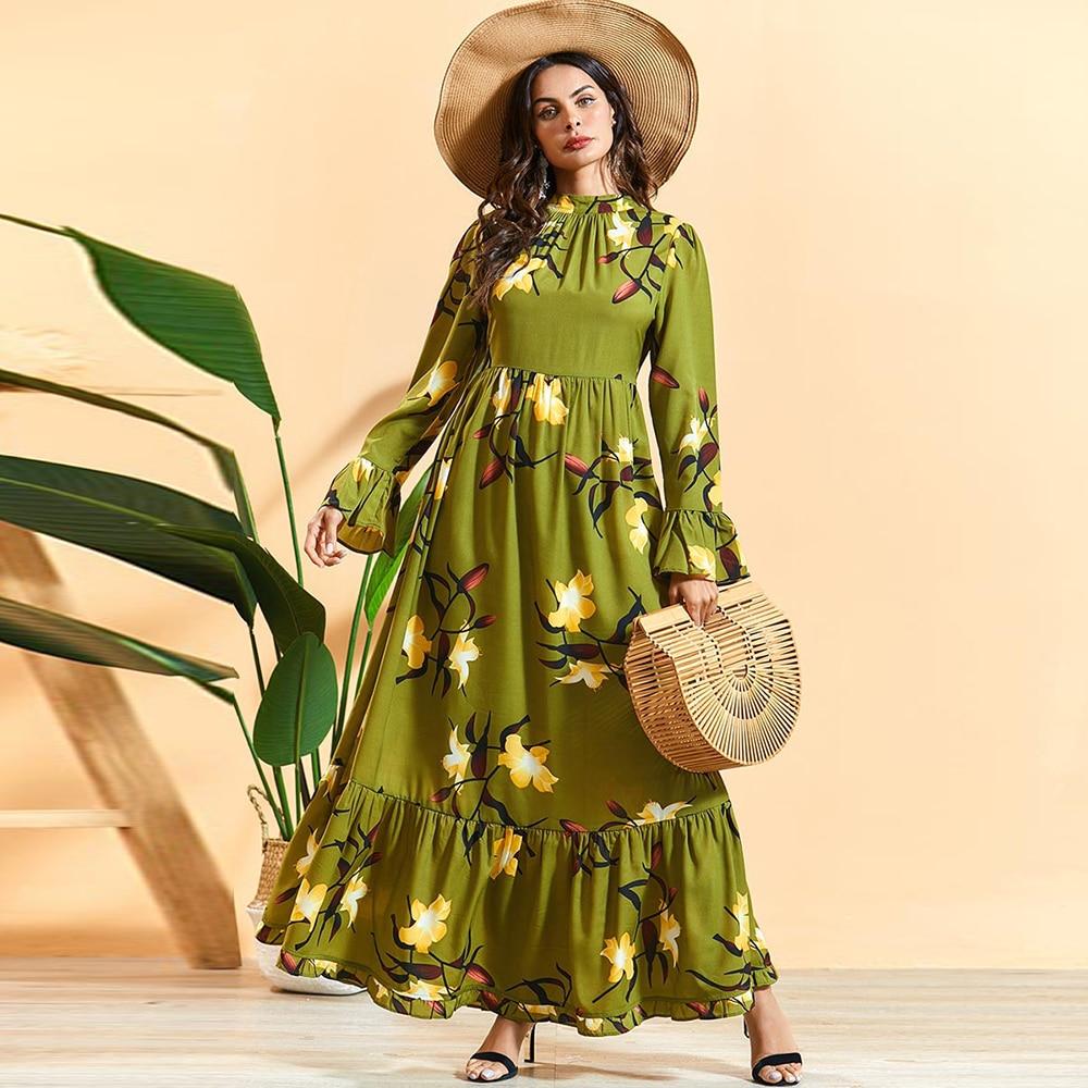 Summer Saudi Arabia Abaya Dubai Turkish Hijab Muslim Dress Oman Islamic Clothing Abayas For Women Caftan Kaftan Islam Vestidos
