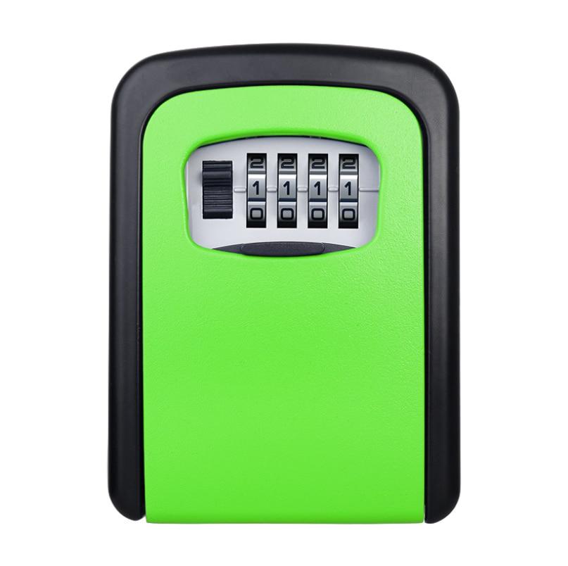 Key Lock Box, [Waterproof Version][Wall Mounted] Combination Key Safe Storage Zinc Alloy Lock Box With Slide Cover