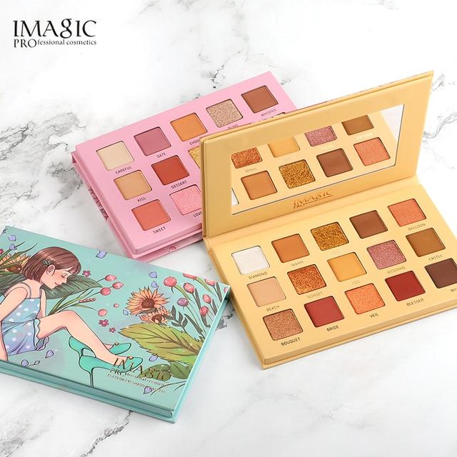 $ US $8.52 IMAGIC Eyeshadow Palette 15 Colors Matte Shimmer Glitter  Matte Paleta De Maquiagem Collectie Charming Oogschaduw  Kleurenpalet