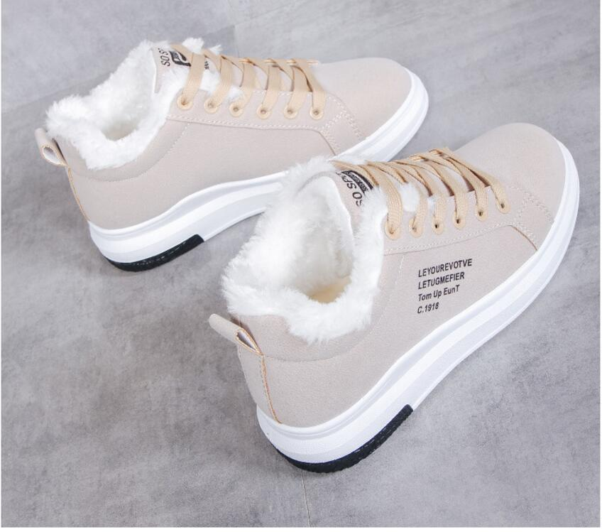 Cotton Shoes Female New Women's Boots Winter Plus Velvet Cotton Shoes Thick-Soled Warm Snow Women's Boots Women's Cotton Boots 11