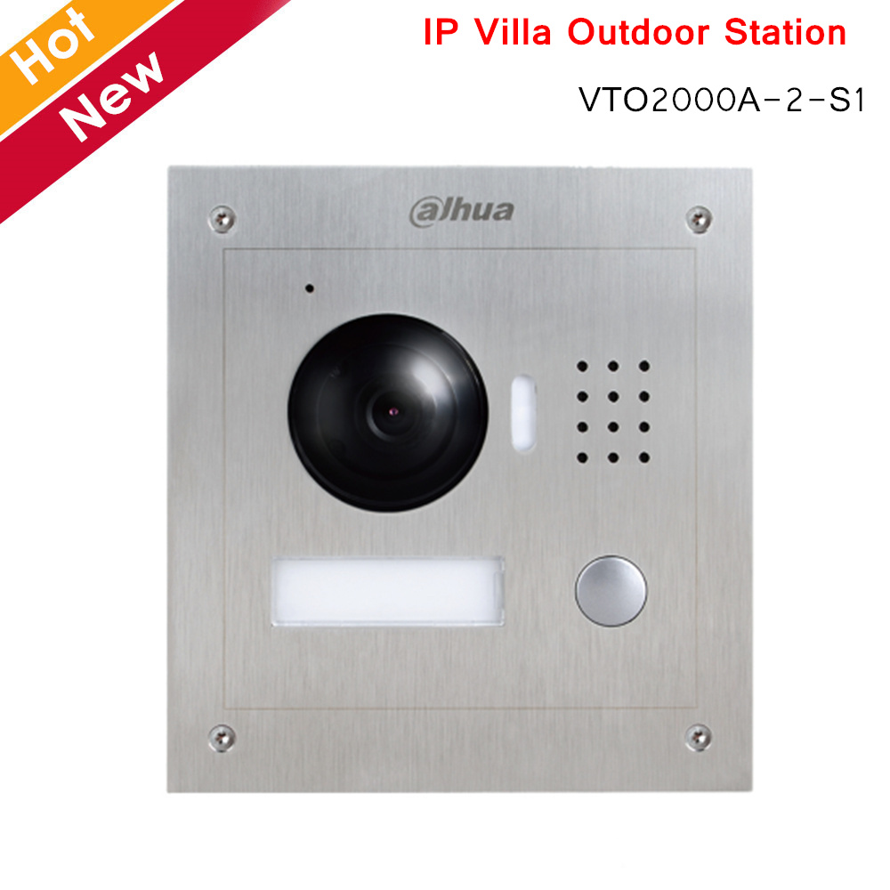 Dahua VTO2000A-2-S1 2 Wire IP Villa Outdoor Station HD CMOS Camera Stainless Steel Panel Night Vision Voice Indication Intercoms